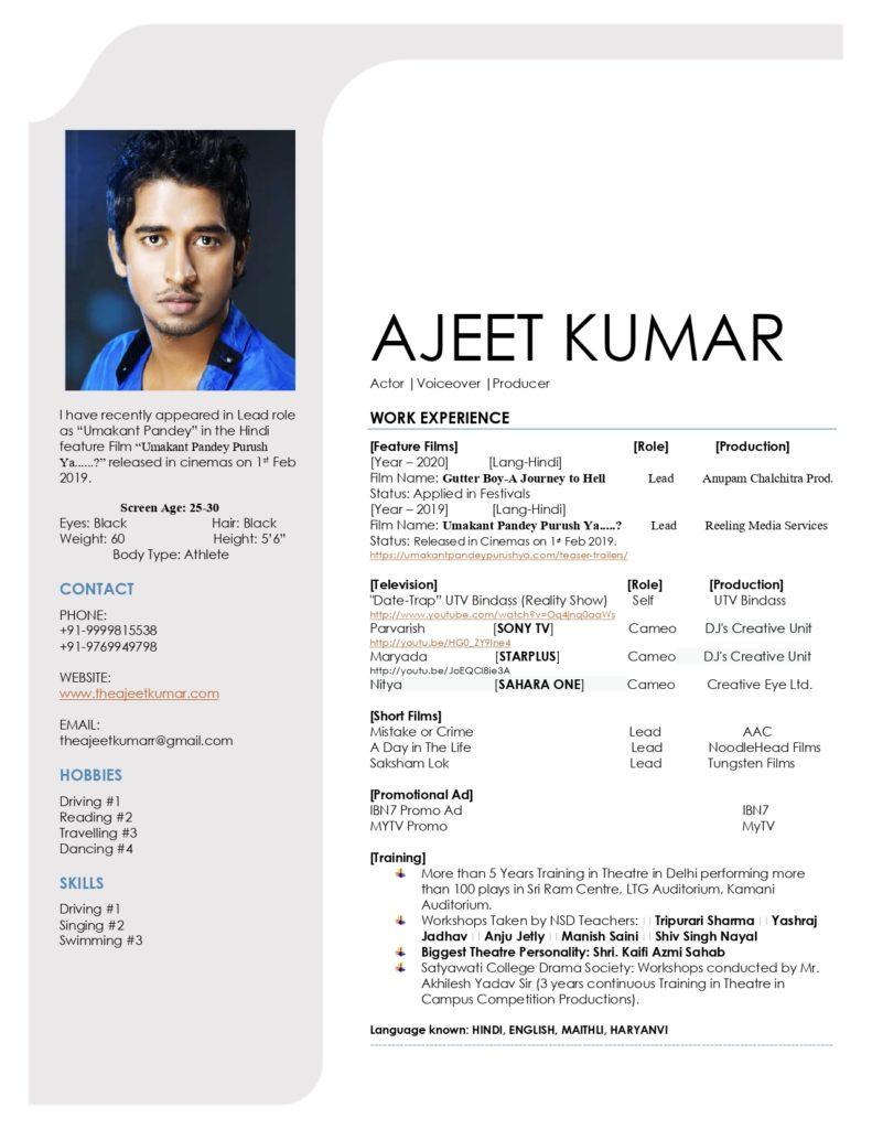 Ajeet Kumar | Resume