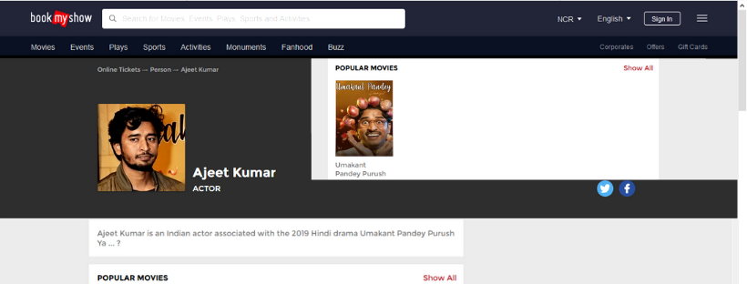 BookMyShow | Ajeet Kumar